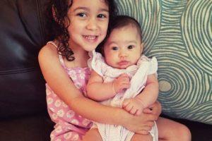 Sofia holding Liv