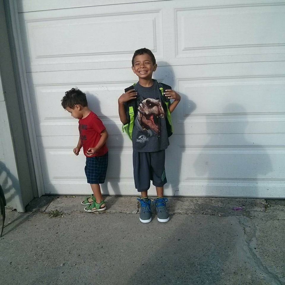 My boys on the first day of school last year.