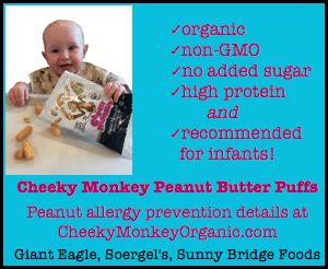 cheeky monkey peanut butter puffs