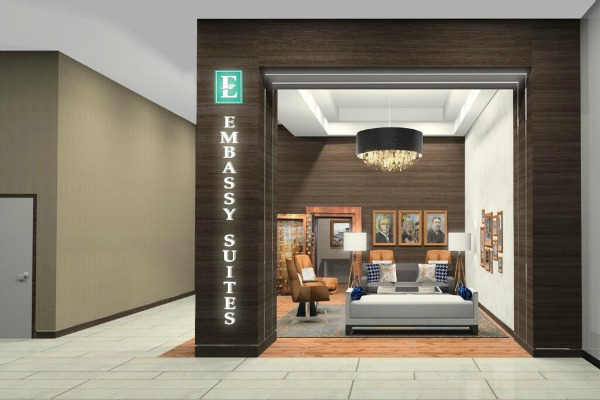 Embassy Suites by Hilton Pittsburgh Downtown 30 - Street Level Entrance Lobby600x400