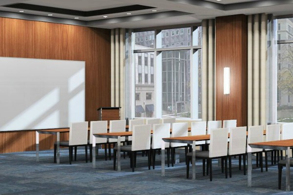 Embassy Suites by Hilton Pittsburgh Downtown 31 - Meeting Room Rendering - Classroom Setup600x400