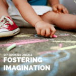 Fostering Imagination // DIY Sidewalk Chalk