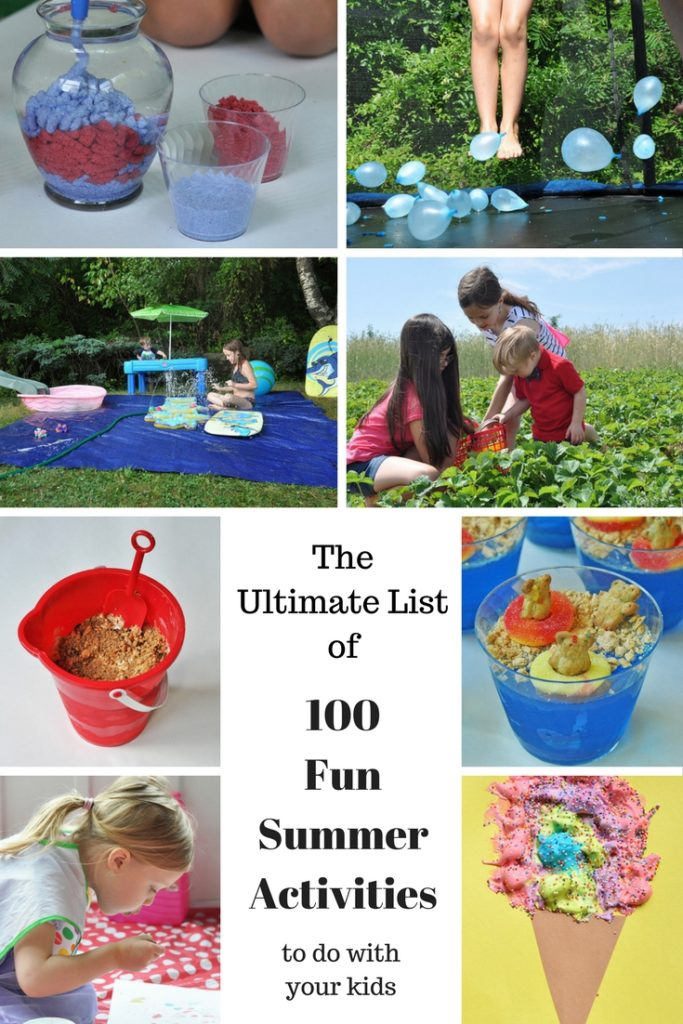 The Ultimate List Of 100 Fun Summer Activities To Do With