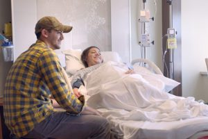 Jefferson Hospital couple in birthing suite