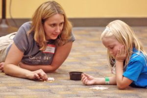 My daughter and I at the Northland Public Library sleepover in 2012.  Picture courtesy of TribLive.