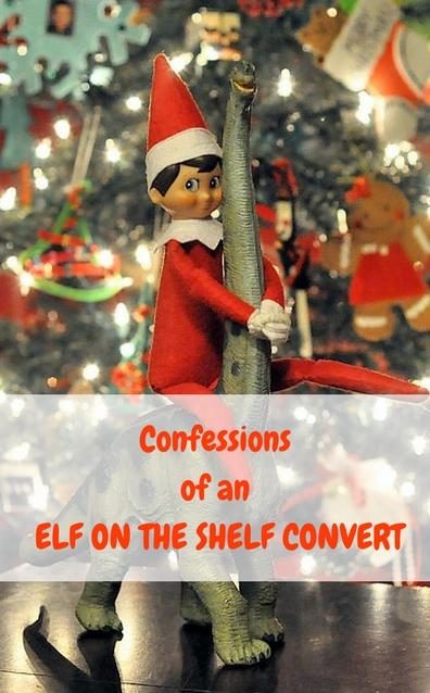 Confessions of an Elf on the Shelf convert. Why this mom of four happily embraces this holiday tradition! #elfontheshelf #elfontheshelfideas