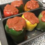 Leftovers Dinner – Pulled Pork Stuffed Peppers