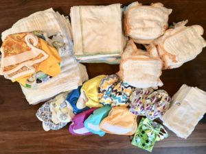 Newborn cloth diaper collection and accessories