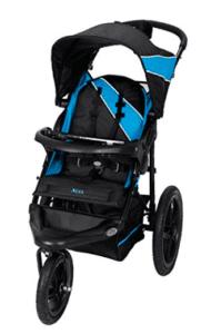 Black and blue single jogging stroller