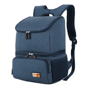 Breast pump storage backpack and cooler (2 in 1) in blue
